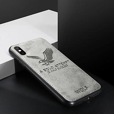 voordelige iPhone-hoesjes-hoesje Voor Apple iPhone XS / iPhone XR / iPhone XS Max Schokbestendig / Ultradun / Patroon Achterkant Woord / tekst / dier PU-nahka / TPU