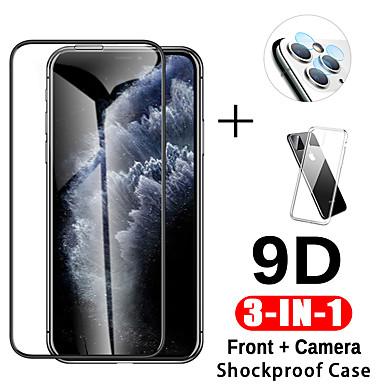 voordelige iPhone screenprotectors-3-in-1 9d gehard glas voor iPhone 11 Pro Max Case Camera beschermglas voor iPhone 11 Pro Screen Protector voor iPhone 111 bestellen