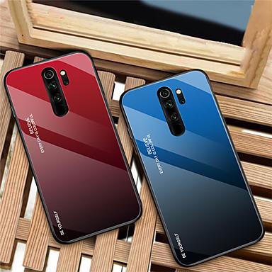 رخيصةأون Xiaomi أغطية / كفرات-التدرج الزجاج المقسى حالة الهاتف ل xiaomi redmi ملاحظة 8 الموالية للصدمات الغطاء الخلفي ل redmi ملاحظة 8 سيليكون لينة tpu حافة واقية