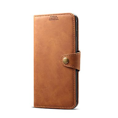 voordelige Galaxy Note-serie hoesjes / covers-hoesje Voor Samsung Galaxy S9 / A6 (2018) / Note 9 Kaarthouder Volledig hoesje Effen PU-nahka