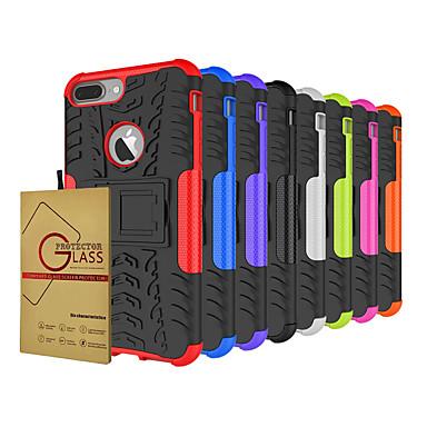 voordelige iPhone-hoesjes-hoesje met schermbeschermer voor Apple iPhone 11/11 pro / 11 pro max schokbestendig / stofdicht / met standaard achtercover effen / armor tpu / pc voor iPhone 7 / 7p / 8/8 p / 6/6 plus / x / xs / xr /