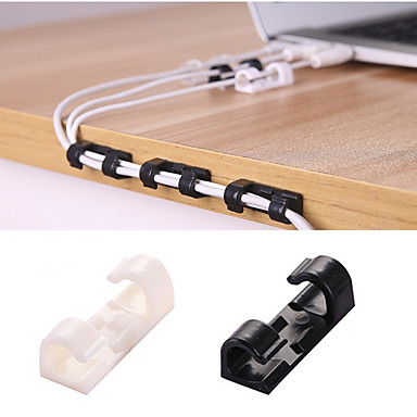 20pcs kabel navijanje klip ljepilo punjač kopča stol žica kabel slušalice telefonska linija kravata fiksator organizator auto zid stezaljka držač