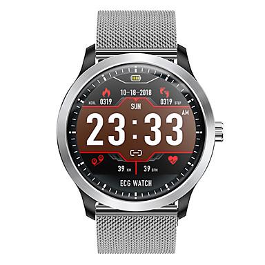 رخيصةأون ساعات ذكية-smartwatch dn58 الفولاذ المقاوم للصدأ bt اللياقة البدنية تعقب دعم دعم / ecg / قياس ضغط الدم الرياضة ووتش الذكية للهواتف سامسونج / فون / الروبوت