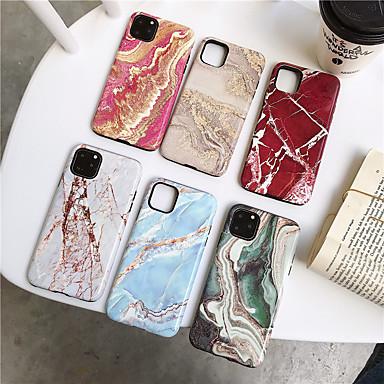 Недорогие Кейсы для iPhone 7-Кейс для Назначение Apple iPhone 11 / iPhone 11 Pro / iPhone 11 Pro Max Защита от удара Кейс на заднюю панель Мрамор ТПУ