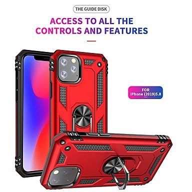 voordelige iPhone-hoesjes-luxe armor zacht schokbestendig hoesje voor iphone 11 pro / iphone 11 siliconen tpu bumper case voor iphone 11 pro max auto metalen magnetische vinger ringhoes