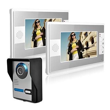 olcso Beléptető rendszerek-vezetékes 7 hüvelykes kihangosító nélküli 800 * 480 képpont méretű, egy-egy videó ajtótelefon