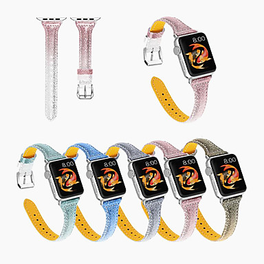 voordelige Smartwatch-accessoires-gelden voor Apple lederen band horloge Apple Gradient lederen band iwatch 5/4/3/2/1 38 / 40mm 42 / 44mm