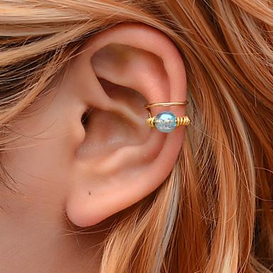 olcso Fülgyűrűk-Női Fül Mandzsetta Mértani Öröm Fülbevaló Ékszerek Fehér / Kék Kompatibilitás Farsang