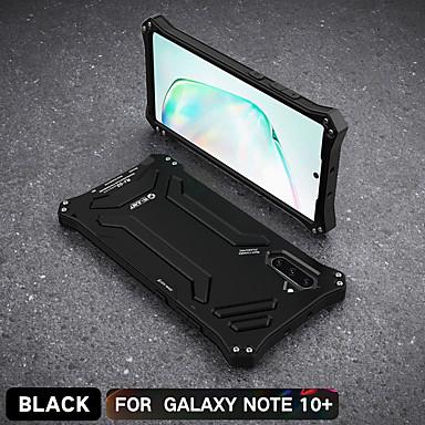 お買い得  Galaxy Note シリーズ ケース/カバー-ケース 用途 Samsung Galaxy Note 9 / Note 8 / サムスン注10 耐衝撃 / 耐埃 / 耐水 バックカバー 鎧 シリカゲル / アルミニウム