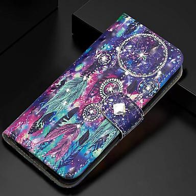 Недорогие Чехлы и кейсы для Galaxy А-Кейс для Назначение SSamsung Galaxy A5(2018) / Galaxy A7(2018) / A3 (2017) Кошелек / Бумажник для карт / со стендом Чехол Перья Кожа PU