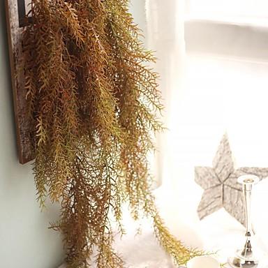 زهور اصطناعية 1 فرع كلاسيكي معلق على الحائط معلق بنمط سلة الزهور