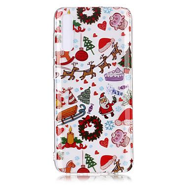 Недорогие Чехлы и кейсы для Galaxy S-Кейс для Назначение SSamsung Galaxy S9 / S9 Plus / S8 Plus Прозрачный / С узором Кейс на заднюю панель Рождество ТПУ