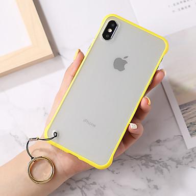 olcso iPhone 7 Plus tokok-Case Kompatibilitás Apple iPhone XS / iPhone XR / iPhone XS Max Ultra-vékeny / Átlátszó Fekete tok Egyszínű / Átlátszó TPU