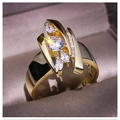 Pentru femei Inel 1 buc Auriu Alamă Diamante Artificiale Geometric Shape Modă Cadou Zilnic Bijuterii Geometric Αστέρι Cool
