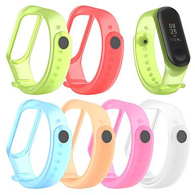 Недорогие Аксессуары для смарт-часов-для xiaomi mi band 4 / mi band 3 силиконовый браслет браслет