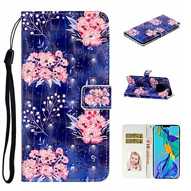 voordelige Huawei Mate hoesjes / covers-hoesje Voor Huawei Honor 7A / Mate 10 lite / Huawei Mate 20 lite Portemonnee / Kaarthouder / Schokbestendig Volledig hoesje Bloem PU-nahka