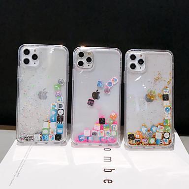 Недорогие Кейсы для iPhone 6 Plus-Кейс для Назначение Apple iPhone 11 / iPhone 11 Pro / iPhone 11 Pro Max Движущаяся жидкость / С узором / Сияние и блеск Кейс на заднюю панель Геометрический рисунок ПК