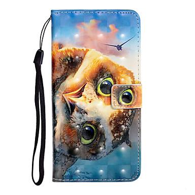 رخيصةأون حافظات / جرابات هواتف جالكسي S-غطاء من أجل Samsung Galaxy S9 / S9 Plus / S8 Plus محفظة / حامل البطاقات / ضد الصدمات غطاء كامل للجسم حيوان جلد PU