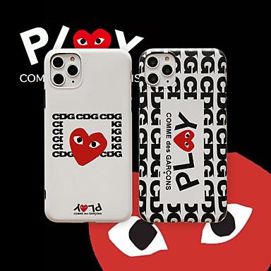voordelige iPhone-hoesjes-hoesje Voor Apple iPhone 11 / iPhone 11 Pro / iPhone 11 Pro Max Patroon Achterkant Woord / tekst / Hart TPU
