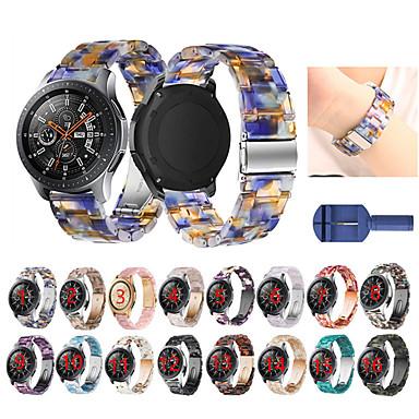 Недорогие Часы для Samsung-для samsung galaxy watch 46mm / gear s3 / gear2 / gear2 neo / ремешок из живой смолы ремешок с пряжкой и ремешком