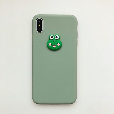 Недорогие Кейсы для iPhone 7 Plus-чехол для яблока iphone xs / iphone xr / iphone xs max ультратонкий / матовый / рисунок с задней обложкой животное / мультфильм тпу / шт