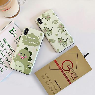 voordelige iPhone-hoesjes-hoesje met schermbeschermer voor apple iphone 11 / iphone 11 pro / iphone 11 pro max stofdicht achterkant woord / zin / cartoon tpu voor iphone 7/7 p / 8/8 p / 6/6 plus / x / xs / xr / xs max