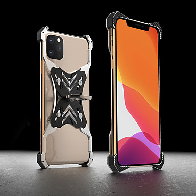 voordelige iPhone X hoesjes-Slanke schokbestendige aluminium metalen behuizing voor iPhone 11 Pro Max Mechanische Armour Achterkant voor iPhone 11 / iPhone X / XR / iPhone 8 / iPhone 7