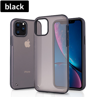 voordelige iPhone-hoesjes-hoesje Voor Apple iPhone 11 / iPhone 11 Pro / iPhone 11 Pro Max Doorzichtig / Patroon Achterkant Effen / Transparant silica Gel