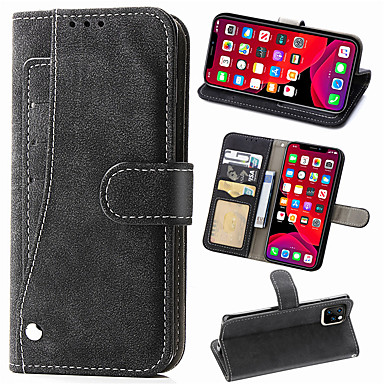 Недорогие Кейсы для iPhone-случай бумажника сальто из матовой кожи для iphone 11 pro max xr xs max x 8 плюс 7 плюс 6 плюс чехол для телефона магнитная карта держатель подставка крышка