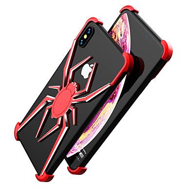 voordelige iPhone-hoesjes-hoesje Voor Apple iPhone XS / iPhone XR / iPhone XS Max Schokbestendig Achterkant Effen Aluminium