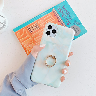 رخيصةأون أغطية أيفون-غطاء من أجل Apple اي فون 11 / iPhone 11 Pro / iPhone 11 Pro Max حامل الخاتم / IMD / نموذج غطاء خلفي حجر كريم TPU