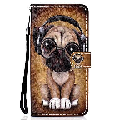 voordelige iPhone-hoesjes-hoesje Voor Apple iPhone 11 / iPhone 11 Pro / iPhone 11 Pro Max Portemonnee / Kaarthouder / Flip Volledig hoesje Hond PU-nahka