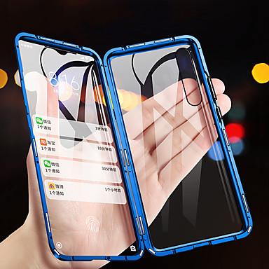 Недорогие Чехол Samsung-Кейс для Назначение SSamsung Galaxy Galaxy A7(2018) / Galaxy A9 (2018) / Galaxy A10 (2019) Флип / Магнитный Чехол Однотонный Закаленное стекло / Металл