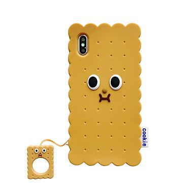 Недорогие Кейсы для iPhone-Кейс для Назначение Apple iPhone XS / iPhone XR / iPhone XS Max Защита от удара Кейс на заднюю панель Продукты питания силикагель