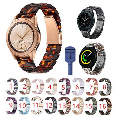 Недорогие Аксессуары для мобильных телефонов-для samsung galaxy watch active 2 / активный / 42мм / gear sport / s2 classic ремешок из полимерной смолы с застежкой-бабочкой и ремешком