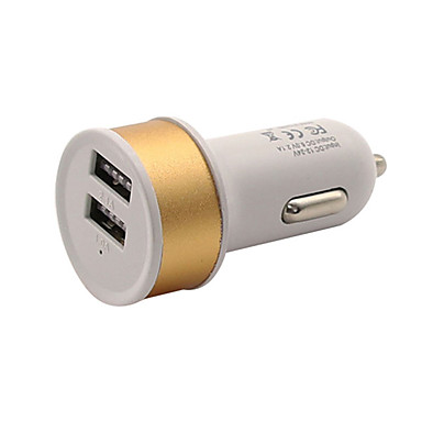 olcso iPod töltők-Autós töltő USB töltő Univerzális Több csatlakozós / Szabályos 2 USB port 1 A DC 5V mert Univerzalno