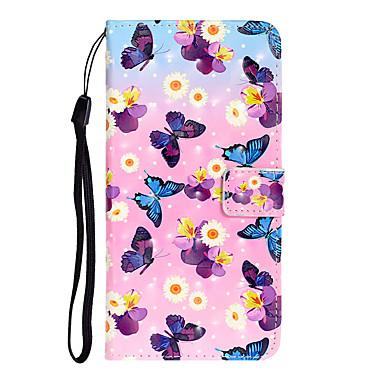 voordelige iPhone 7 hoesjes-hoesje Voor Apple iPhone 11 / iPhone 11 Pro / iPhone 11 Pro Max Kaarthouder Volledig hoesje Vlinder PU-nahka