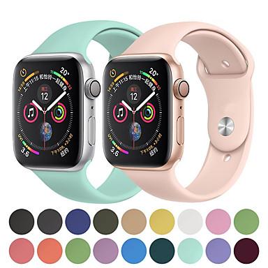 voordelige Smartwatch-accessoires-horlogeband voor Apple Watch-serie 5/4/3/2/1 Apple sportband siliconen polsband
