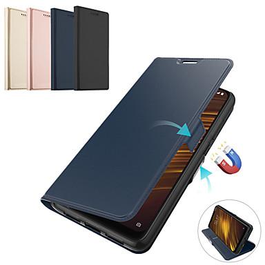 رخيصةأون Xiaomi أغطية / كفرات-المغناطيسي فليب جلد حالة الهاتف ل xiaomi 9 طن ميل 9 طن الموالية redmi k20 الموالية k20 مسنده بطاقة حامل المحفظة غطاء