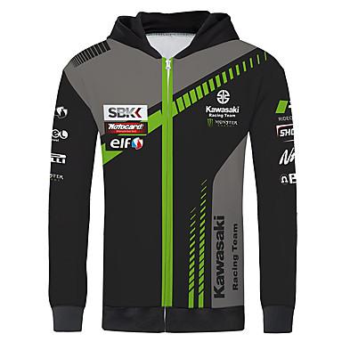 olcso Motorkerékpár és ATV-kawasaki verseny mez motorkerékpár mez ruha dzseki unisex polyster tavaszi / őszi / téli melegebb / lélegző / gyorsan száraz