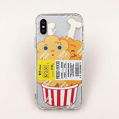 olcso iPhone XS tokok-Case Kompatibilitás Apple iPhone XS / iPhone XR / iPhone XS Max Ultra-vékeny / Átlátszó / Minta Fekete tok Élelem / Rajzfilm TPU