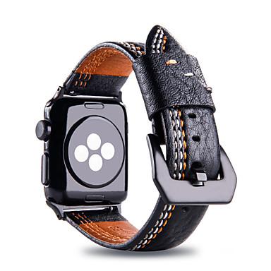 voordelige Smartwatch-accessoires-Horlogeband voor Apple Watch Series 5 / Apple Watch Series 4 / Apple Watch Series 3 Apple Zakelijke band Stof / Echt leer Polsband