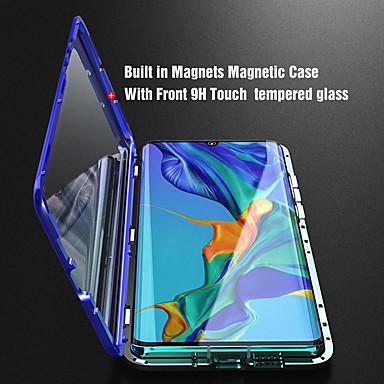 Etui de téléphone magnétique en verre trempé double face en métal pour huawei p30 p30 lite p30 pro p20 p20 lite p20 pro