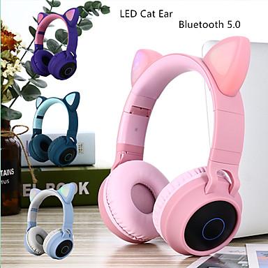 povoljno Slušalice (na uho)-slušalice s mačjim ušima za odbranu buke u ušima slušalice bluetooth 5,0 mladi ljudi slušalice podržavaju tf karticu 3,5 mm utikač sa mikrofonom