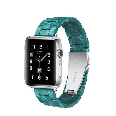 voordelige Smartwatch-accessoires-horlogeband voor appelhorloge serie 5/4/3/2/1 appel vlinder gesp keramische polsband