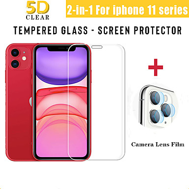 cheap iPhone Screen Protectors-2-in-1 Back Camera Lens Screen Protector For iPhone 11 Pro Max Full Cover Tempered Glass Protective Film For iPhone 11
