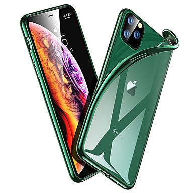 voordelige iPhone-hoesjes-midnight green plating case voor iphone 11 pro max luxe zachte siliconen transparante telefoonhoesje