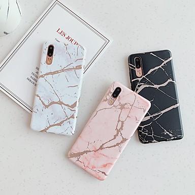 voordelige Hoesjes / covers voor Huawei-hoesje Voor Huawei Huawei P20 / Huawei P20 Pro / Huawei P20 lite Beplating / IMD / Patroon Achterkant Marmer TPU