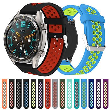 voordelige Smartwatch-accessoires-22 mm siliconen horlogeband polsband voor Huawei horloge GT 2 / actieve 46 mm / honor magic / horloge 2 pro vervangbare armband polsband
