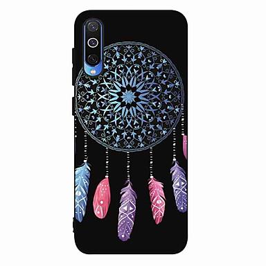 voordelige Galaxy A-serie hoesjes / covers-hoesje Voor Samsung Galaxy S9 / S9 Plus / S8 Plus Mat / Patroon Achterkant Veren TPU